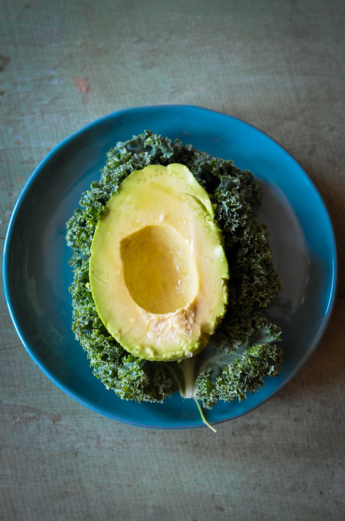 Avocado on Kale