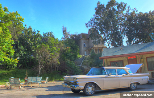 Psycho House and Bates Motel at Universal Studios Hollywood