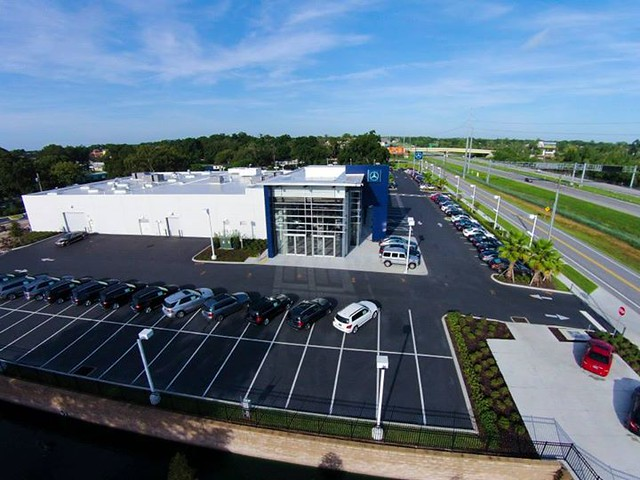 A Bird 39 S Eye View Of Fields Motorcars In Lakeland Florida