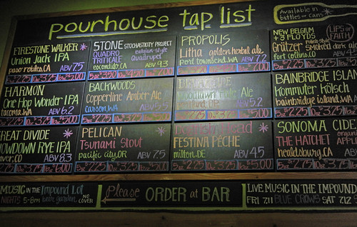 Port Townsend: Pourhouse Taproom Menu of Beers