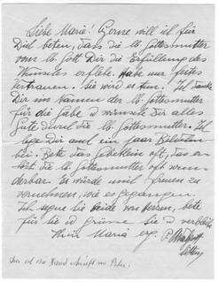Handschrift des Paters Adelgott Zarn