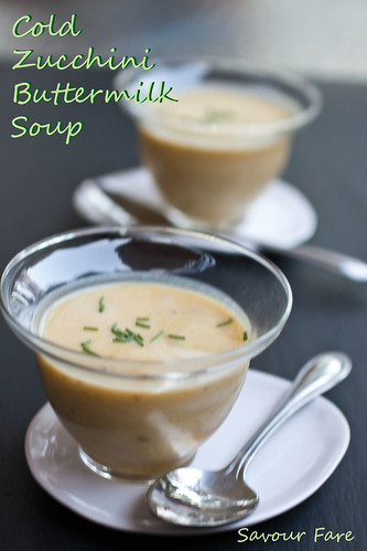 Chilled Roasted Zucchini Soup title