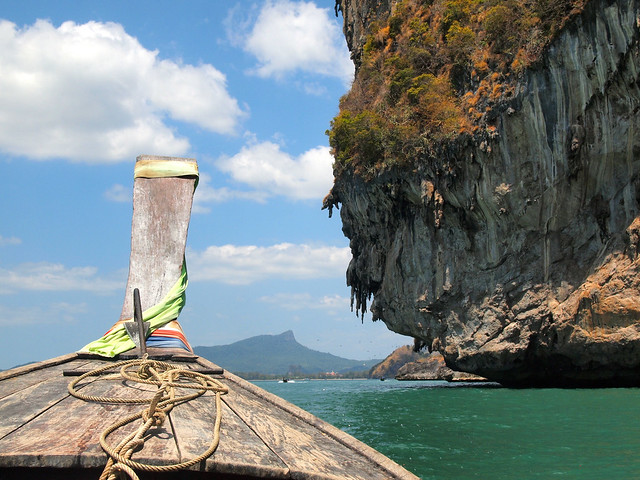 Longtail boat ride in Thailand