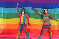 Body painting at RUNS LGBT