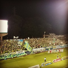 Again, great support at awayend. #bellmare #awaydays