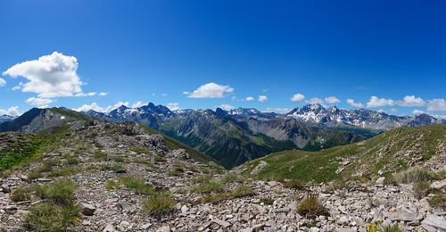 Panorama from the Tête de Jacquette. Provence-Alpes-Côte d'Azur, France