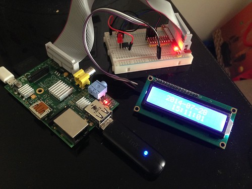 Raspberry Pi + Attiny85 + LCD 1620