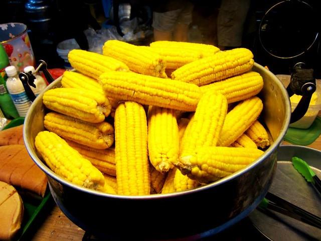Sibu pasar malam, sweet corn