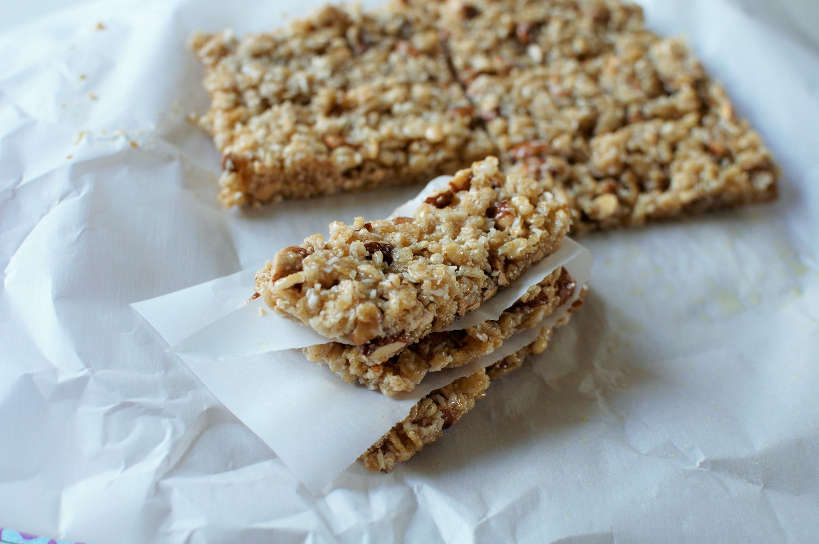 Coconut Almond Granola Bars 4