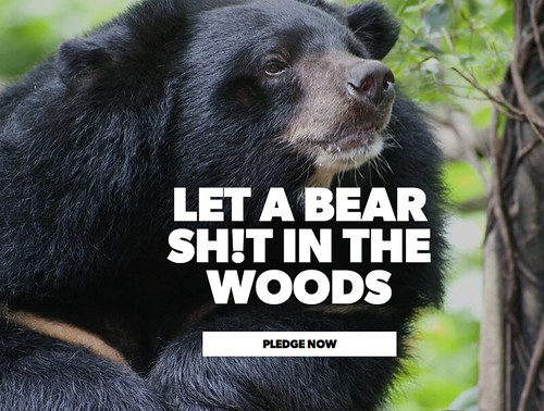 Let a bear sh!t in the woods