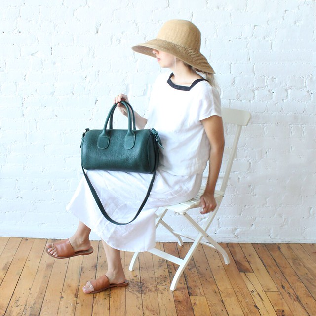 teal mini duffle