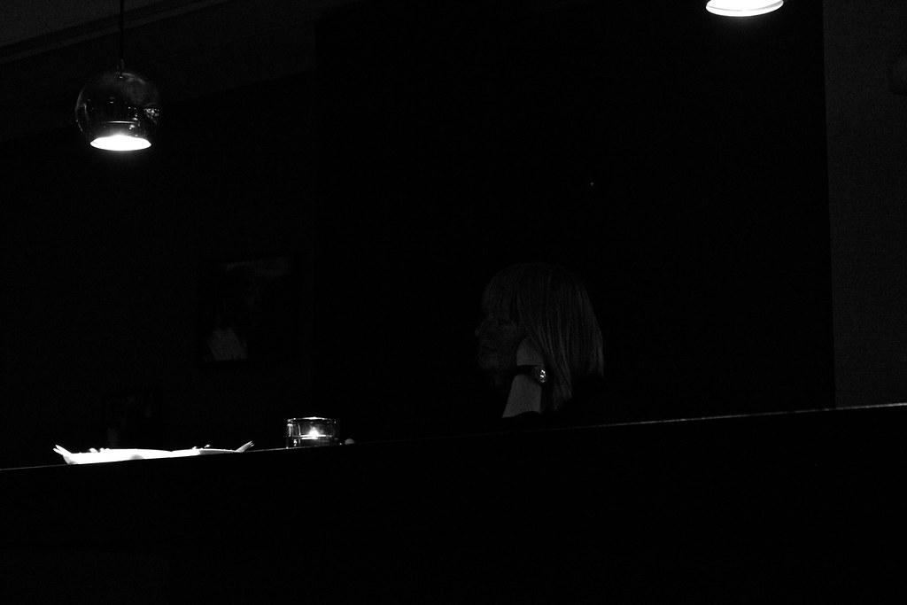 Listening in the dark.