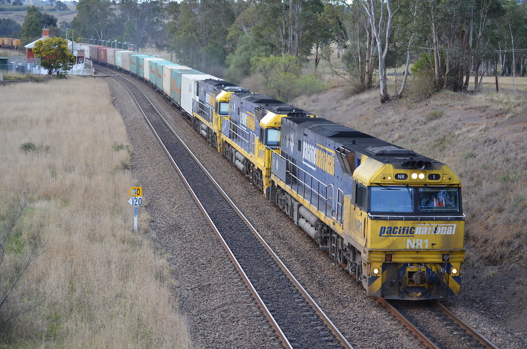With mixed loading on 6NY3 NR1 NR99 NR35 lead their train for whyalla in south australia by NR1984