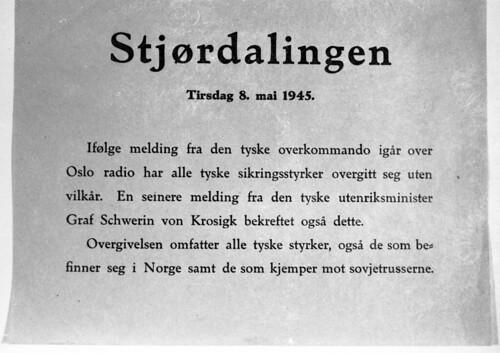 Melding om tysk overgivelse (1945)