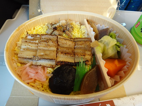Fried sea eel and rice