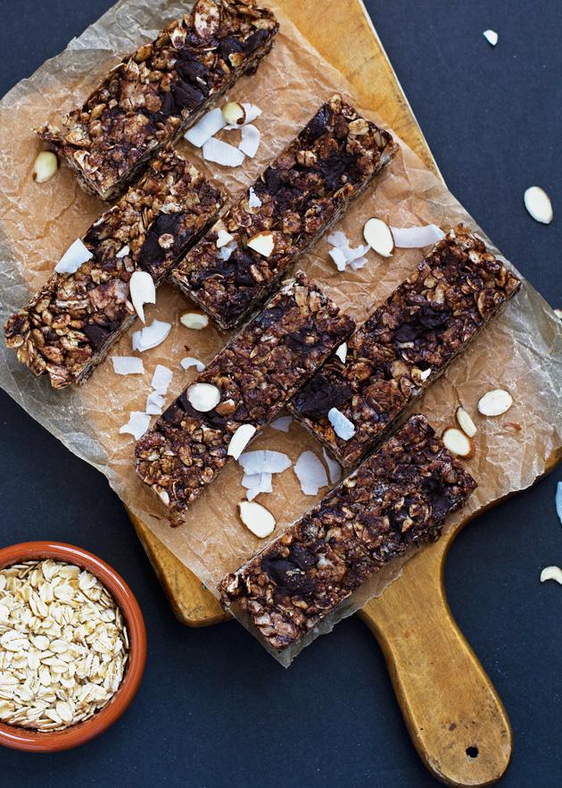 Almond Joy Coconut Chocolate Granola Bars