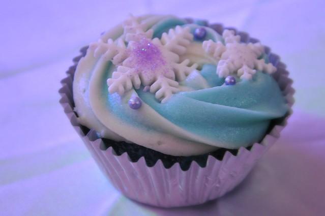 Snowflakes Cupcake