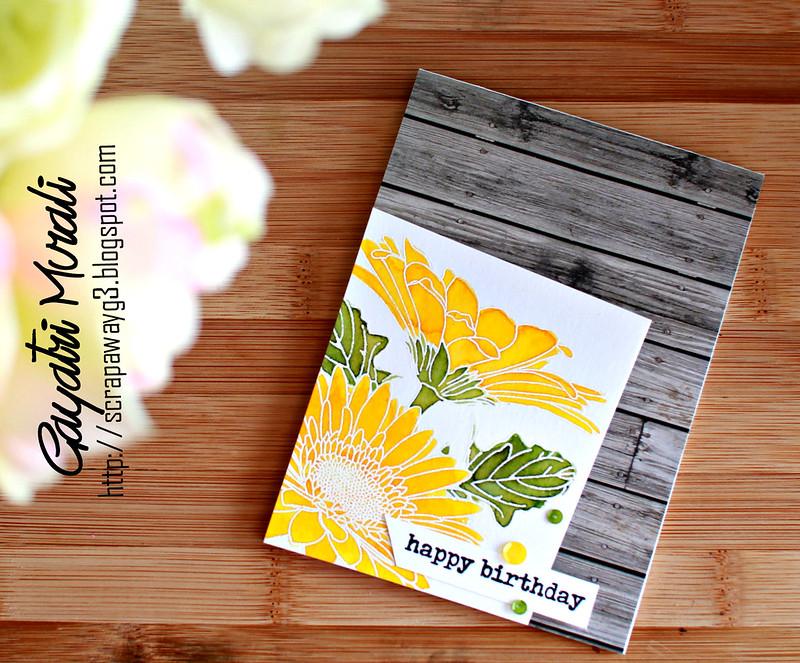 Happy birthday Gebera card
