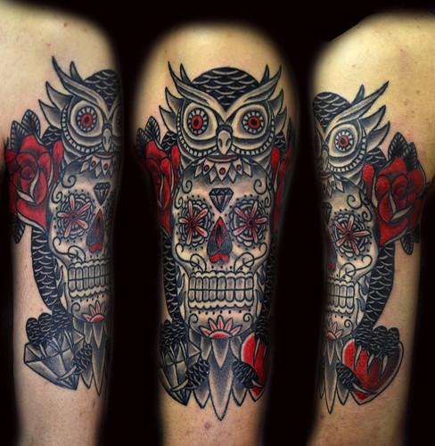 Owl sugar skull tattoo tumblr for Owl with sugar skull tattoo