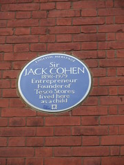 Photo of Jack Cohen blue plaque