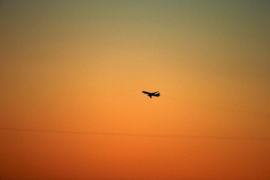 Plane in the sky, rocket man
