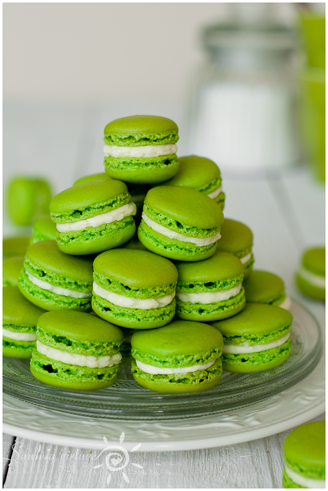 Žali macarons (5)