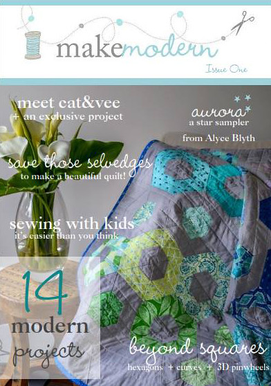 Make Modern Magazine Cover - With my quilt on the front!