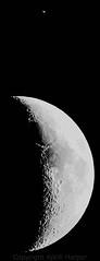 Moon & Saturn by Aprill Harper