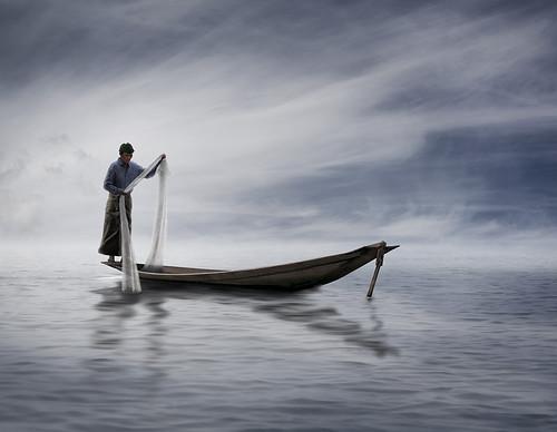 Fishing in Lake Inle