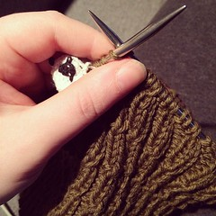 Happy to have just enough energy to work on some knitting in at the end of a very long day. #unwind #knitting