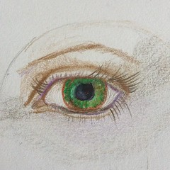 Practicing another eye. #expressyourself #janedavenport #drawing #ilovedrawing