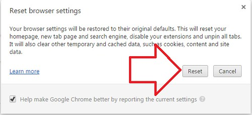 reset google chrome2