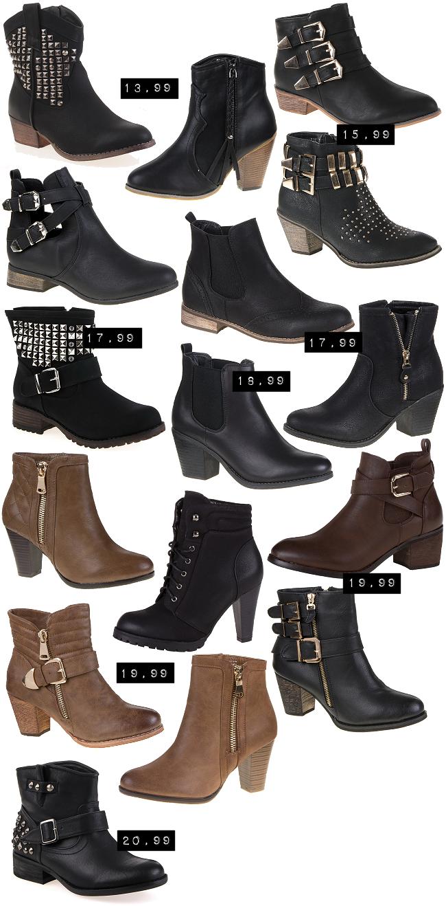 Ital Design Rabatt, Gutschein Ital-Design, günstige Schuhe, Stiefeletten unter 20 €