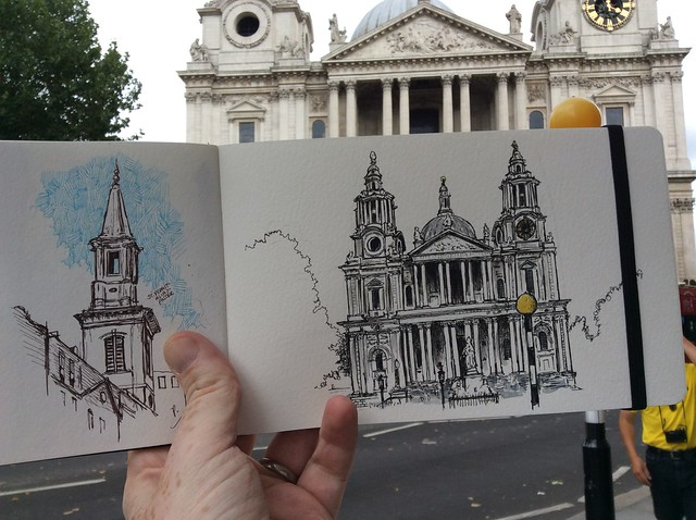 Sketching Wren's City, Aug 2 2014
