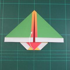 วิธีพับกระดาษเป็นรูปนกแก้ว (Origami Parrot) 010
