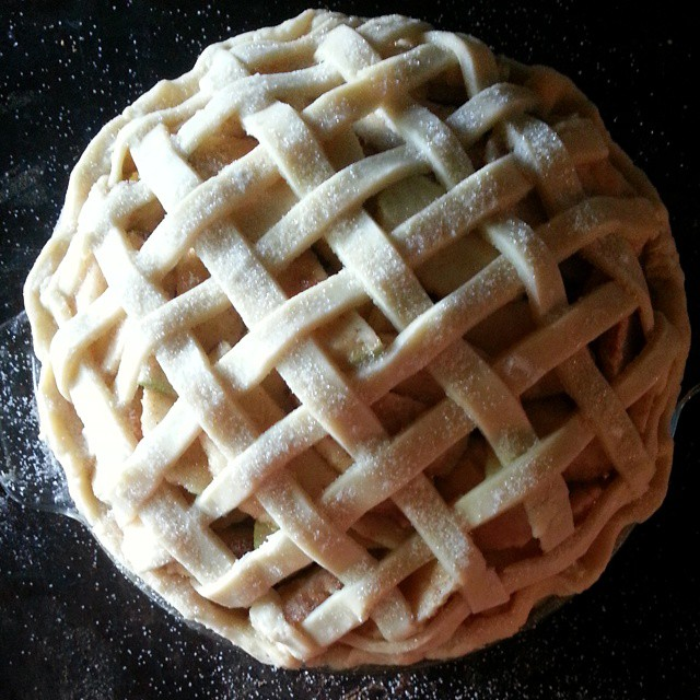 Pie One. #apples #pie #applepie #baking #nofilter