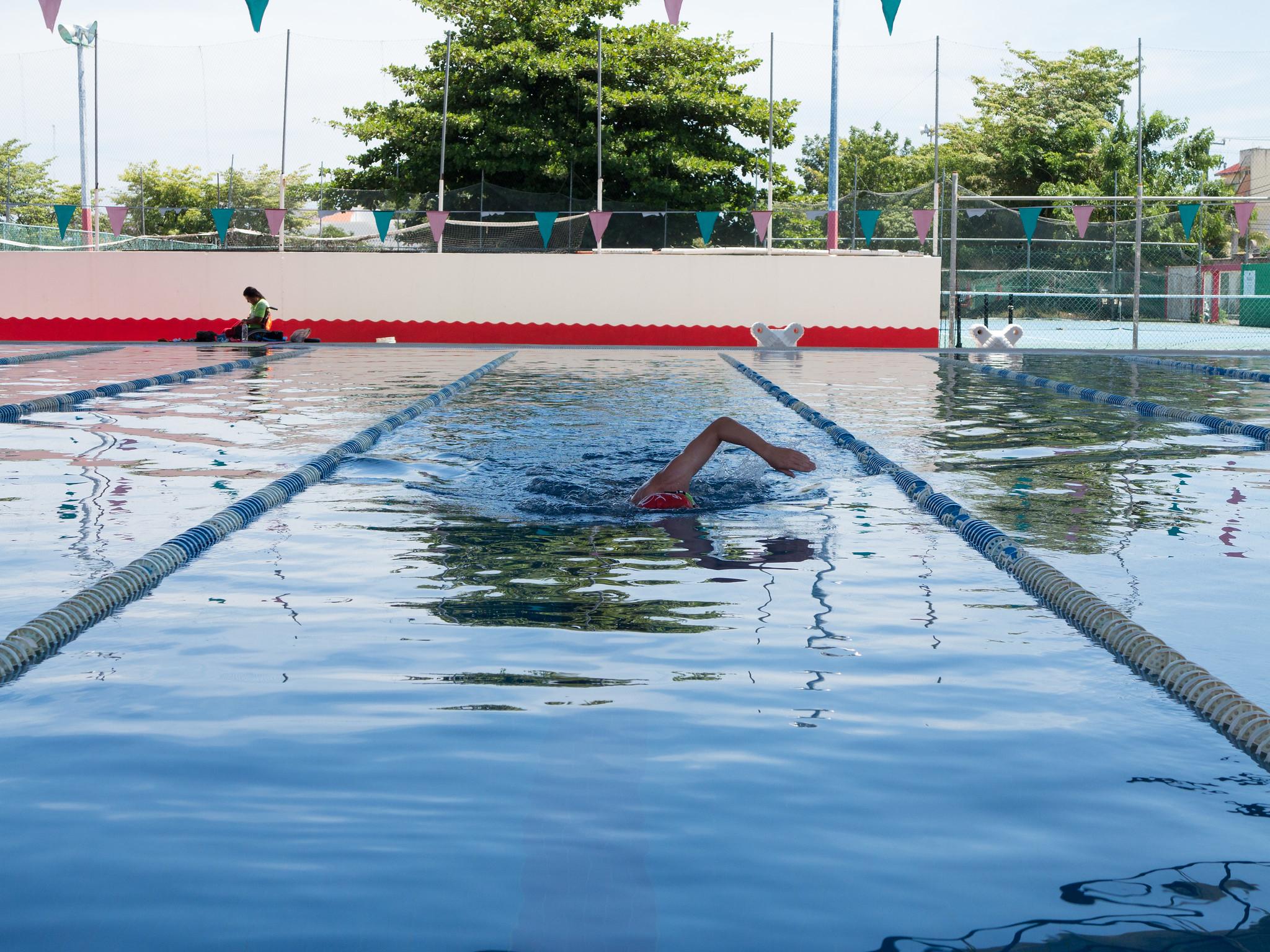 Svømmetrening på Cozumel