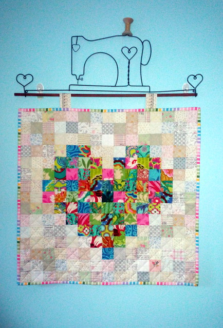 Mini Pixilated Heart wallhanging for Shannon