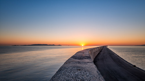longexposure seascape sunrise bluesky greece crete heraklion noclouds singleimage leefilters nikond800 lee06gndhard phottixgeoone nikkor160350mmf40