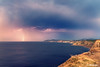 Sopelana coast with thunderstorm