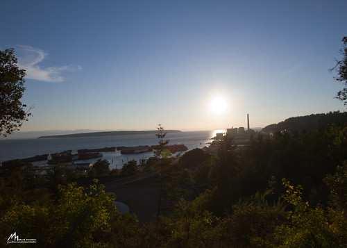 sunset canada river powell papermill hulks concreteships