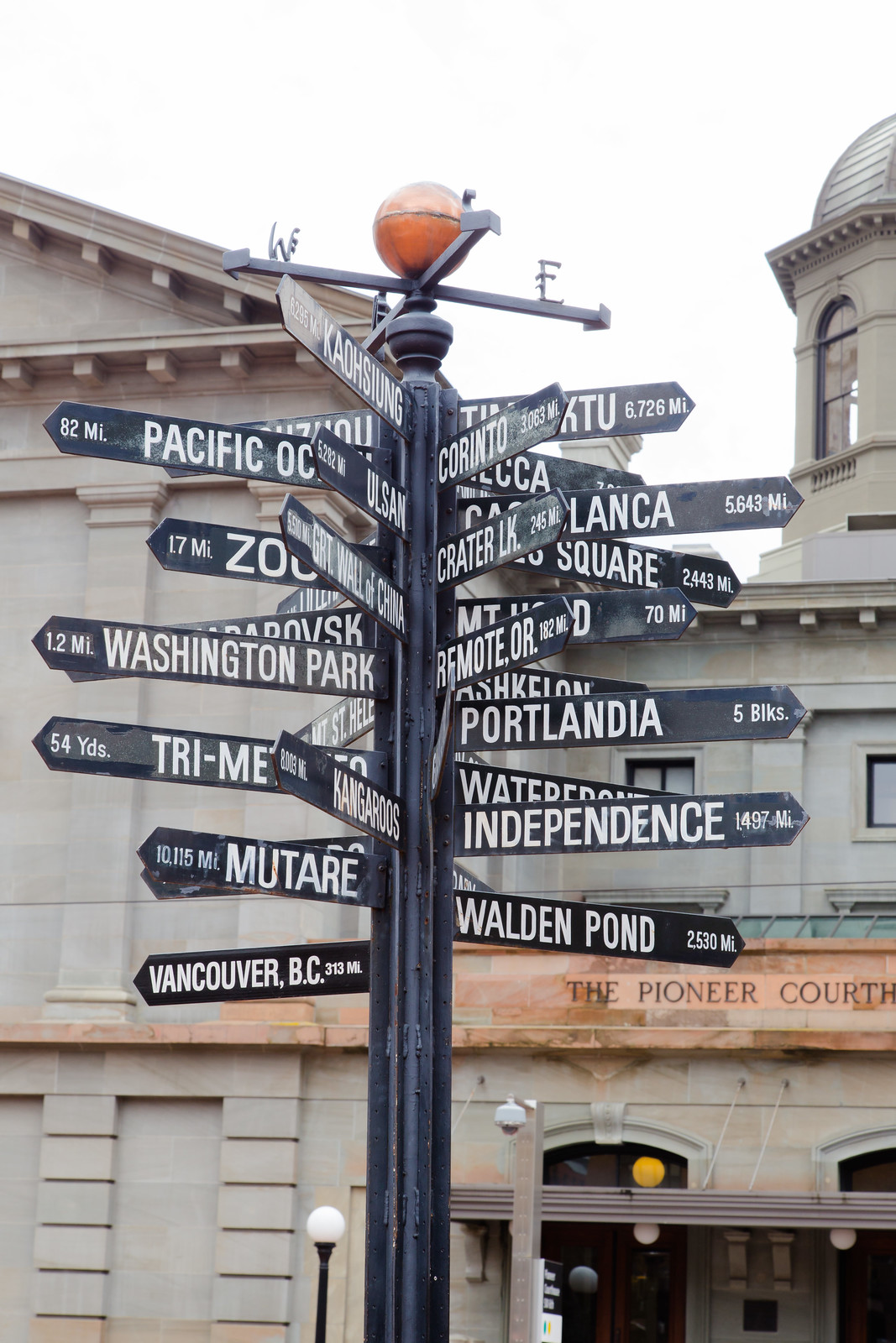 Downtown Portland Signs