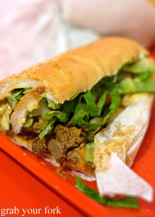 Chicken liver sandwich at Aria Persian Fast Food, Merrylands