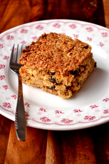 Recipe for Coconut & Prune Flapjacks