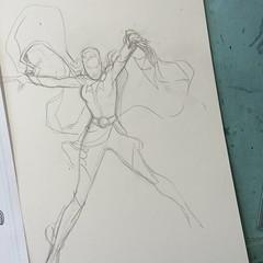 Work In Progress: layout - Princess Projectra #legionofsuperheroes #commission #dccomics #comics