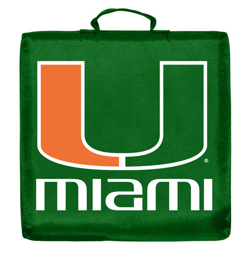 Miami Hurricanes Stadium Cushion