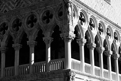 Facade of Doge's Palace. St. Mark's Square. Venice, Italy/