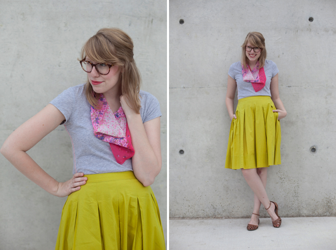 transition a midi skirt from summer to fall