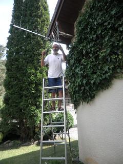 Ajustando la antena