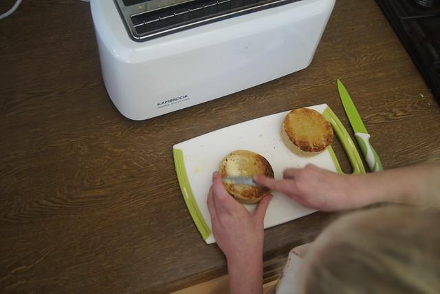 Gluten free English muffins DSC00106